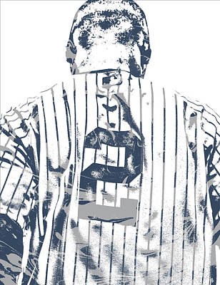 Mixed Media - Derek Jeter New York Yankees Pixel Art 11 by Joe Hamilton