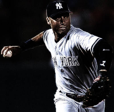 Shortstop Photograph - Derek Jeter by Paul Ward