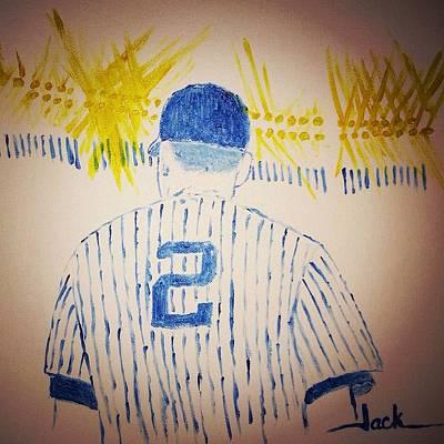Derek Jeter Painting - Derek Jeter Retires by Jack Bunds