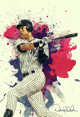 Baseball Royalty-Free and Rights-Managed Images - Derek Jeter by Zapista