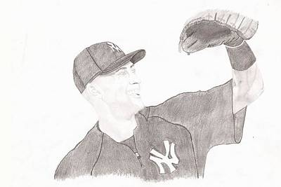 Derek Jeter Drawing - Derek Jeter - Yankee Captain by JJ Tyler