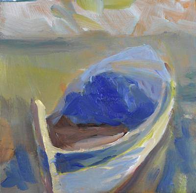 Painting - Derek's Boat. by Julie Todd-Cundiff