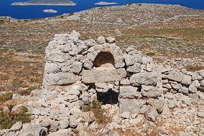 Photograph - Derelict Chapel On Halki Island by David Fowler