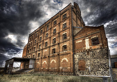 Photograph - Derelict Flour Mill by Wayne Sherriff