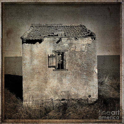 Damaged Photograph - Derelict Hut  Textured by Bernard Jaubert