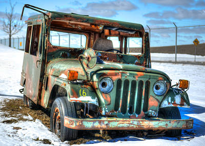 Photograph - Derelict Jeep by Guy Whiteley