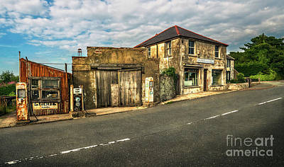 Derelict Old Garage Art Print by Adrian Evans