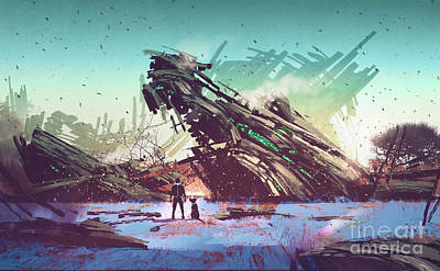 Abstract Graphics - Derelict Ship by Tithi Luadthong