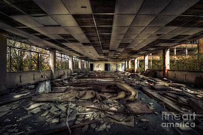 Destruction Mixed Media - Derelict by Svetlana Sewell