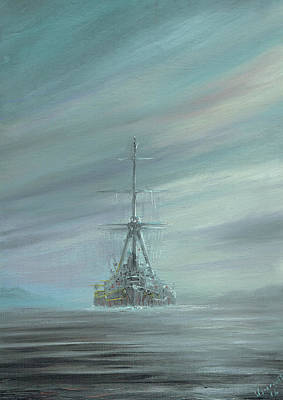 Dreadnought Painting - Derfflinger At Scapa Flow 1919 by Vincent Alexander Booth