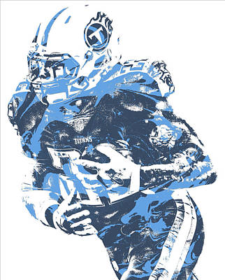 Mixed Media - Derrick Henry Tennessee Titans Pixel Art 10 by Joe Hamilton