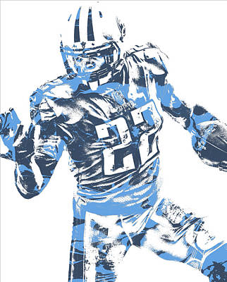 Mixed Media - Derrick Henry Tennessee Titans Pixel Art 11 by Joe Hamilton