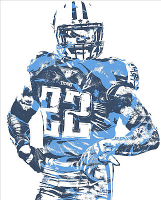 Mixed Media - Derrick Henry Tennessee Titans Pixel Art 12 by Joe Hamilton