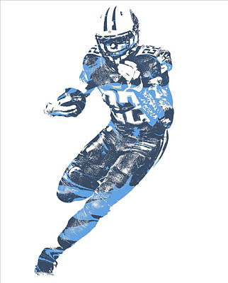 Mixed Media - Derrick Henry Tennessee Titans Pixel Art 13 by Joe Hamilton