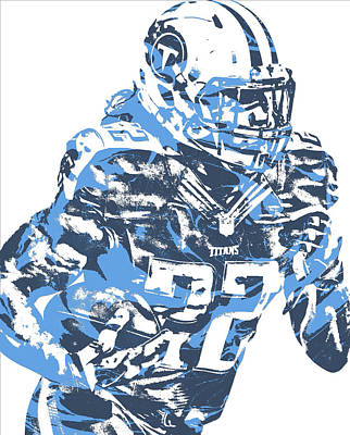 Mixed Media - Derrick Henry Tennessee Titans Pixel Art 14 by Joe Hamilton