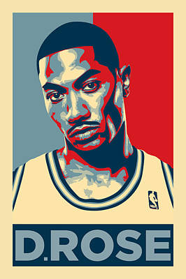 Athletes Digital Art - Derrick Rose by Zapista