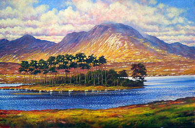 Derryclare,connemara,ireland Art Print by Alan Kenny
