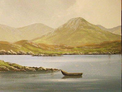 Currach Painting - Derryinver Co Galway by Cathal O malley