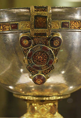 Photograph - Derrynaflan Silver Chalice Macro Irish Artistic Heritage by Shawn O'Brien