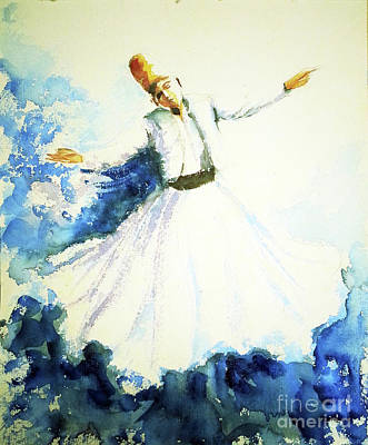 Painting - Dervish Dancer 2 by Asha Sudhaker Shenoy