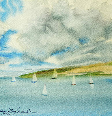 Dark Clouds Threaten Derwent River Sailing Fleet Art Print