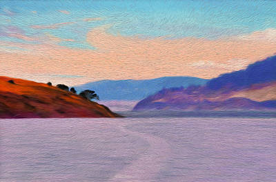 Digital Art - Derwent River,tasmenia by Judith Barath