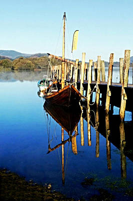 Photograph - Derwent Water Boat by Sarah Couzens