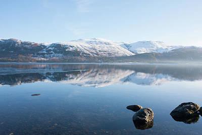 Photograph - Derwentwater Rocks by Peter Walkden