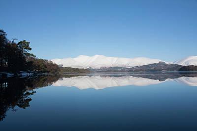 Photograph - Derwentwater Winter Reflection by Peter Walkden