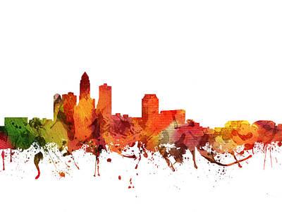 Iowa Digital Art - Des Moines Cityscape 04 by Aged Pixel