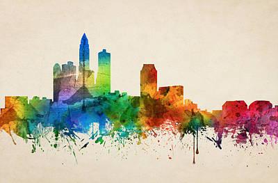 Des Moines Iowa Skyline 05 Art Print