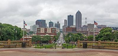 Photograph - Des Moines Iowa Skyline As Viewed From The State Capitol by Willie Harper