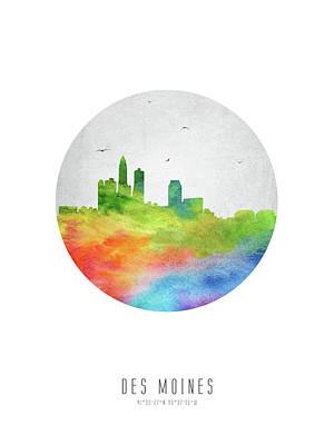 Des Moines Skyline Usiadm20 Art Print