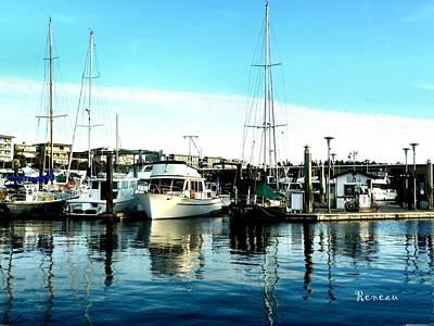 Photograph - Des Moines W A Marina Boats by Sadie Reneau