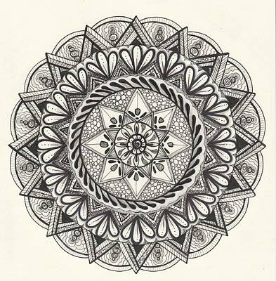Drawing - Des Tapestry Medallion by Kathy Sheeran