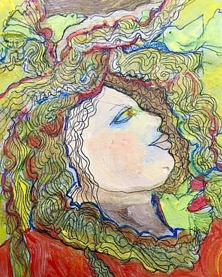 Wall Art - Painting - Descendant Of Medusa by Rosalinde Reece