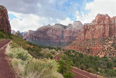 Photograph - Descending Into Zion Canyon by John M Bailey