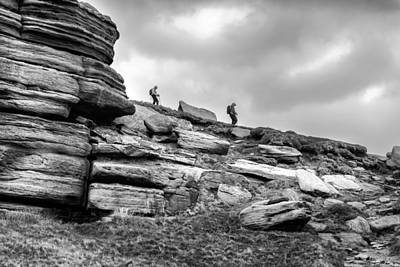 Photograph - Descending Kinder Scout by Nick Bywater