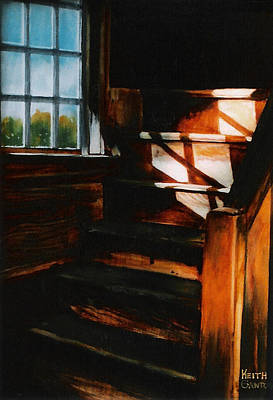 Painting - Descending Light by Keith Gantos