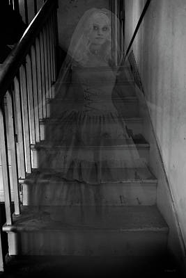 Mixed Media - Descending The Stairs - Halloween by Brian Wallace
