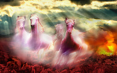 Wall Art - Photograph - Descent Of The Horses by Abstract Paintings