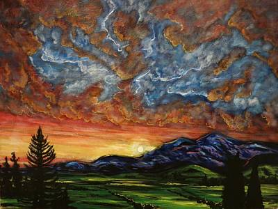 Painting - Descent On Mount Diablo by Joel Tesch