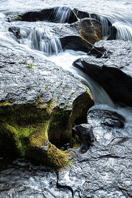 Photograph - Deschutes Carved Basalt by Tim Newton