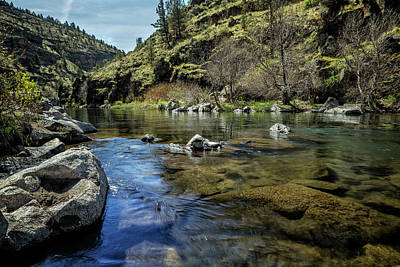 State Love Nancy Ingersoll Rights Managed Images - Deschutes River below Steelhead Falls Royalty-Free Image by Belinda Greb