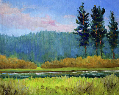 Painting - Deschutes River Edge by Nancy Merkle