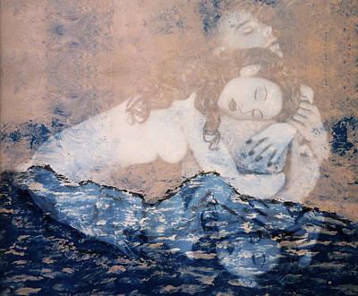 Desdemona Mixed Media - Desdemona And Othello - Tragic Sea Of Love by Jaeda DeWalt