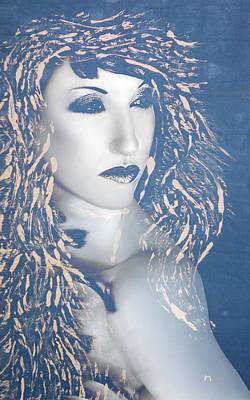 Overcoming Mixed Media - Desdemona Blue - Self Portrait by Jaeda DeWalt