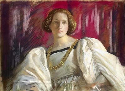 Austin Drawing - Desdemona by Edwin Austin Abbey