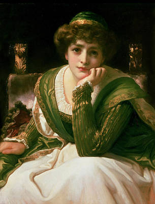 Chin Painting - Desdemona by Frederic Leighton
