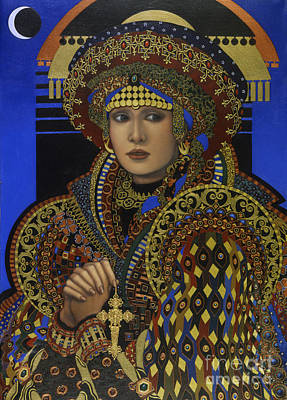 Gold Earrings Painting - Desdemona by Jane Whiting Chrzanoska